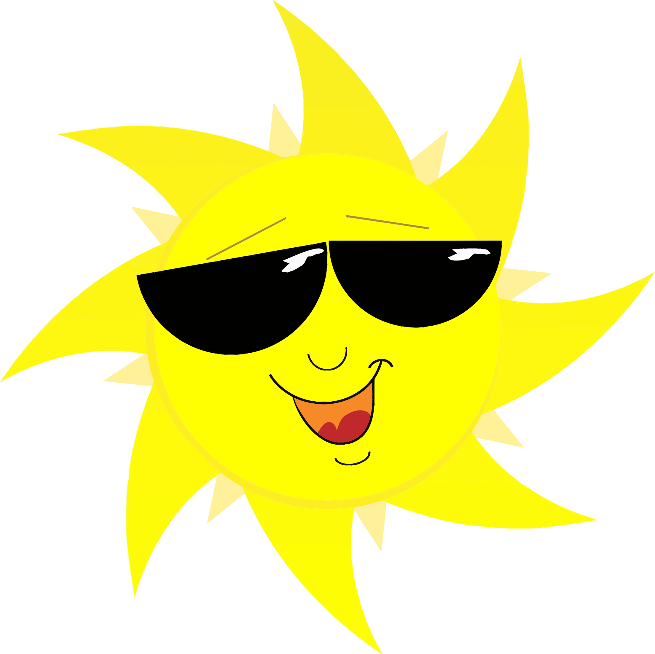 Free sun with sunglasses clipart banner freeuse Clipart - Smiling Sun With Sunglasses banner freeuse
