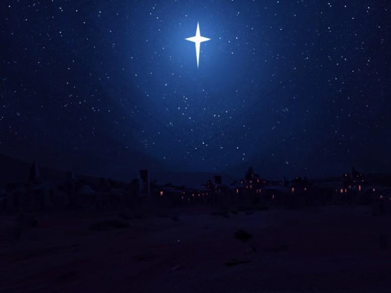 Bethlehem background clipart black and white download Star of Bethlehem Christmas Worship Background | Worship Backgrounds black and white download