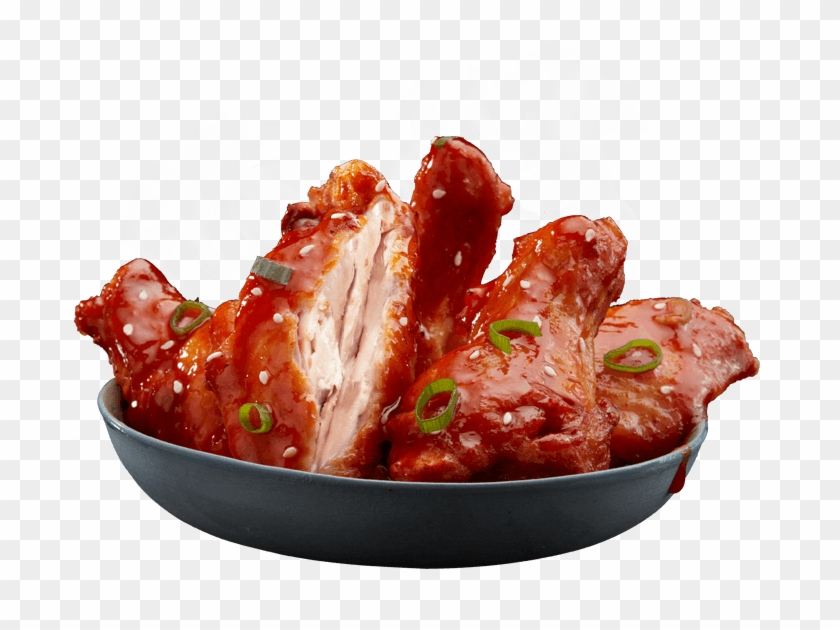 A sticky chicken clipart png black and white library Korean Sticky Wings - Korean Chicken Wings Domino\'s, HD Png Download ... png black and white library