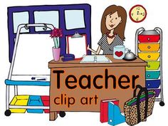 A teacher in a classroom with a skirt on clipart graphic library library This is a set of teacher clipart to use to dress up signs, posters ... graphic library library