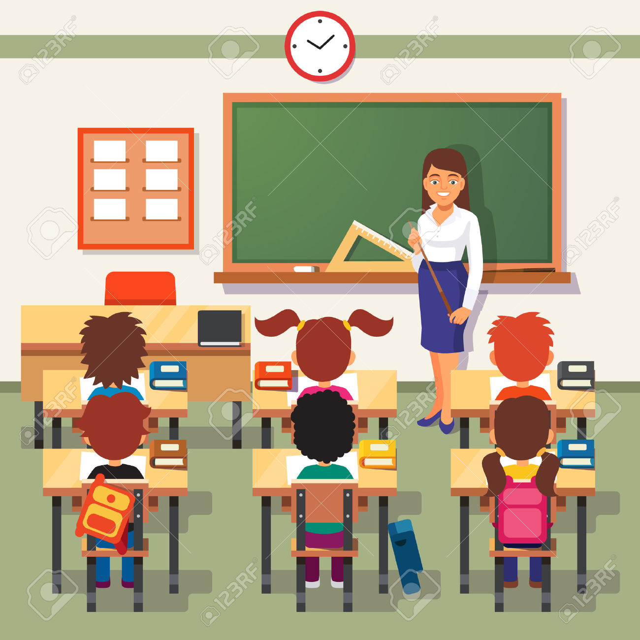 A teacher in a classroom with a skirt on clipart jpg transparent library Teacher Images & Stock Pictures. Royalty Free Teacher Photos And ... jpg transparent library