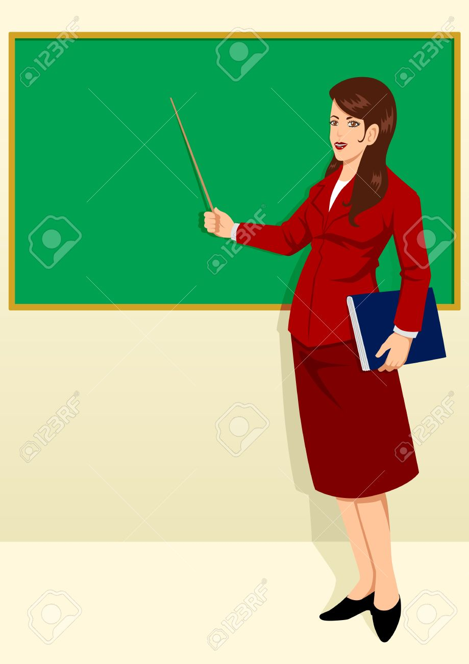 A teacher in a classroom with a skirt on clipart clipart royalty free download Classroom teacher drawing on baord clipart - ClipartFest clipart royalty free download