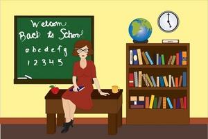 A teacher in a classroom with a skirt on clipart vector transparent stock A teacher in a classroom with a skirt on clipart - ClipartFest vector transparent stock