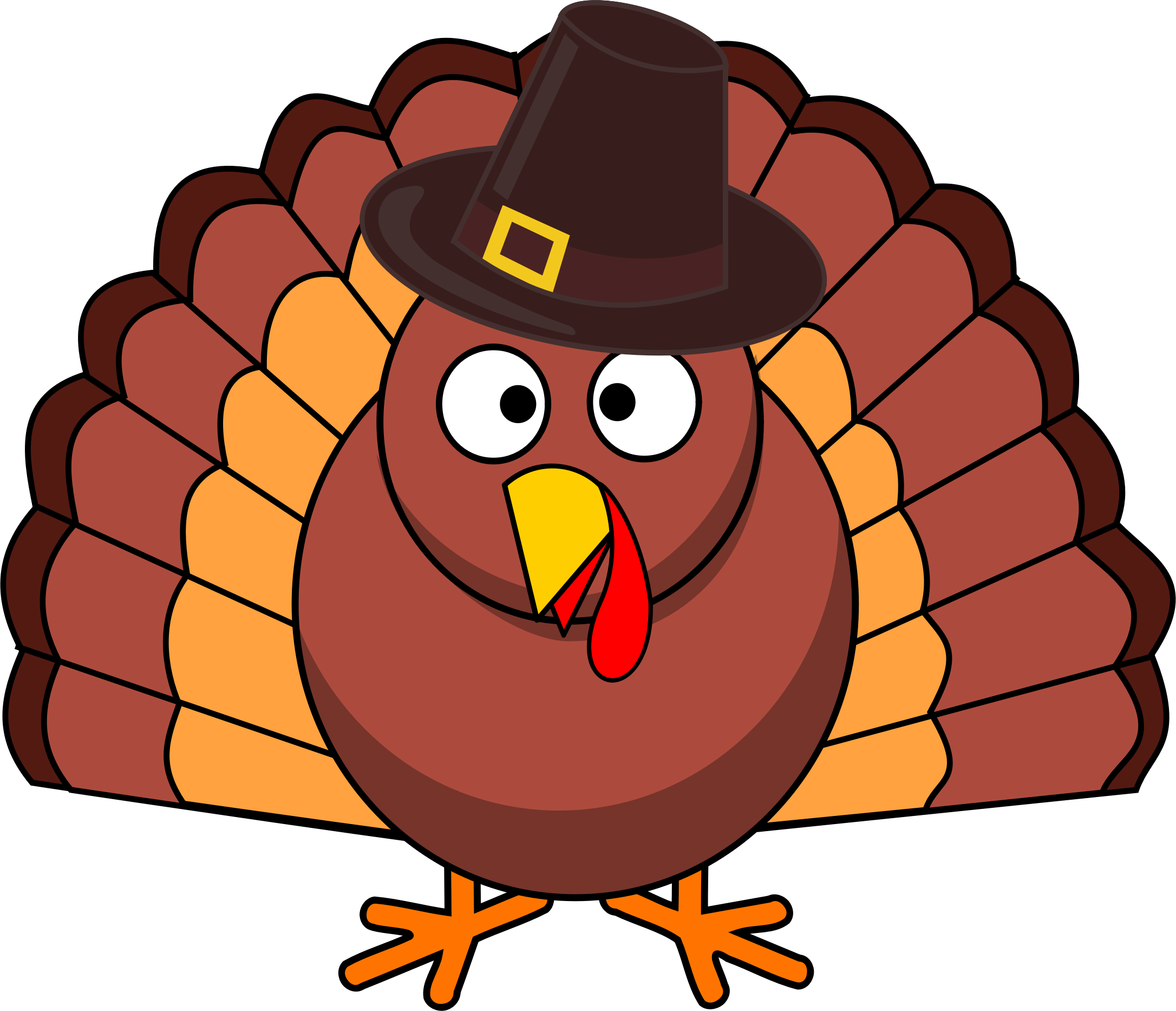 Easy to draw turkey clipart image royalty free Thanksgiving Turkey Drawing at GetDrawings.com | Free for personal ... image royalty free