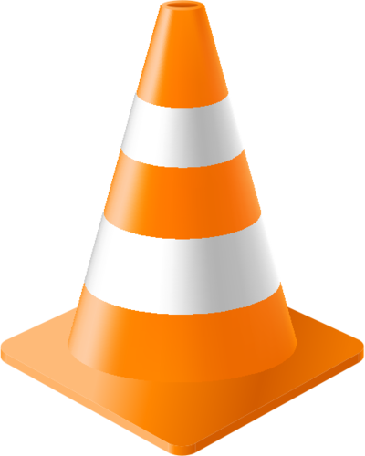 A traffic cone clipart banner stock Traffic Cone banner stock