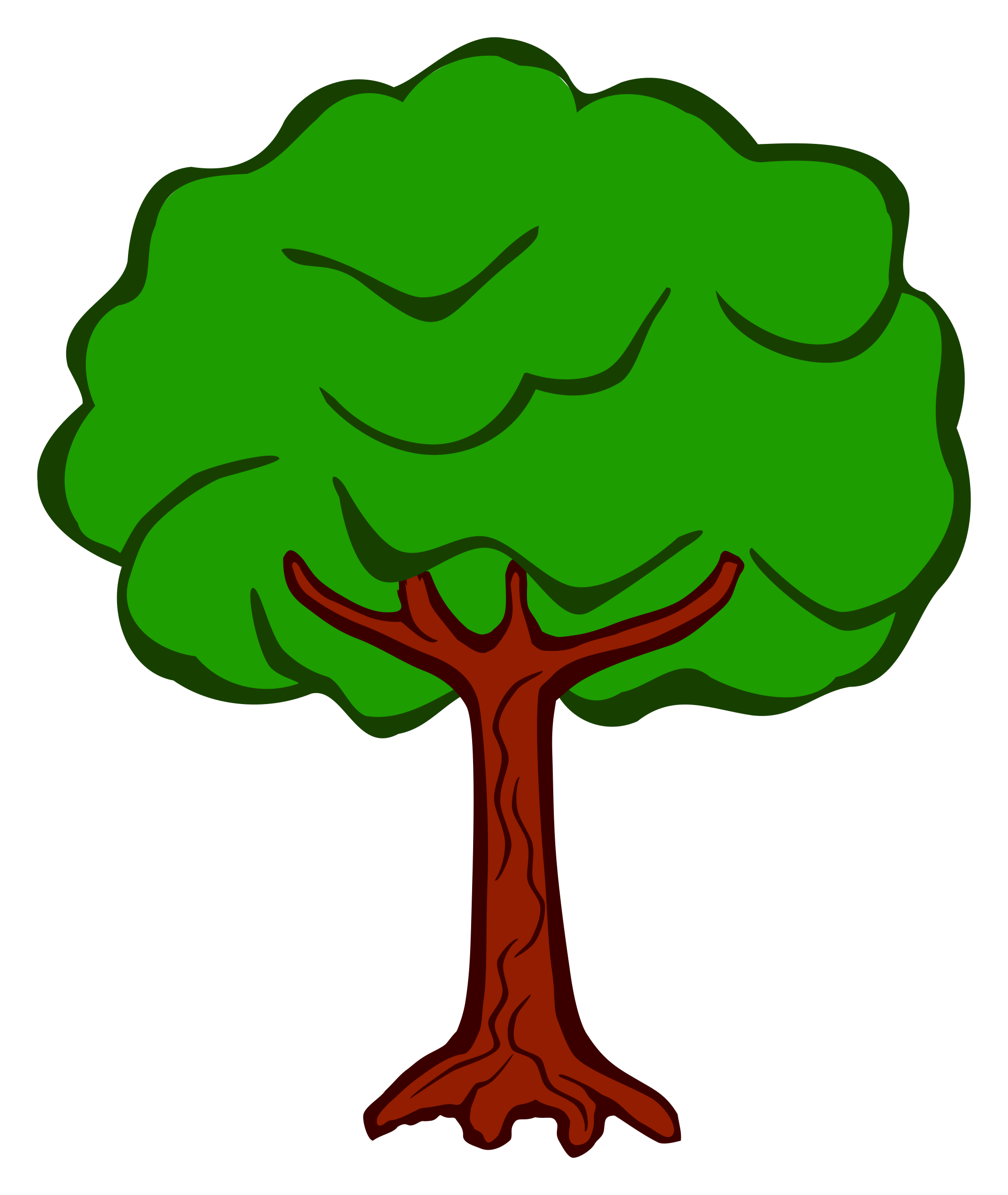 Cute tree clipart vector transparent Clipart - tree - coloured vector transparent