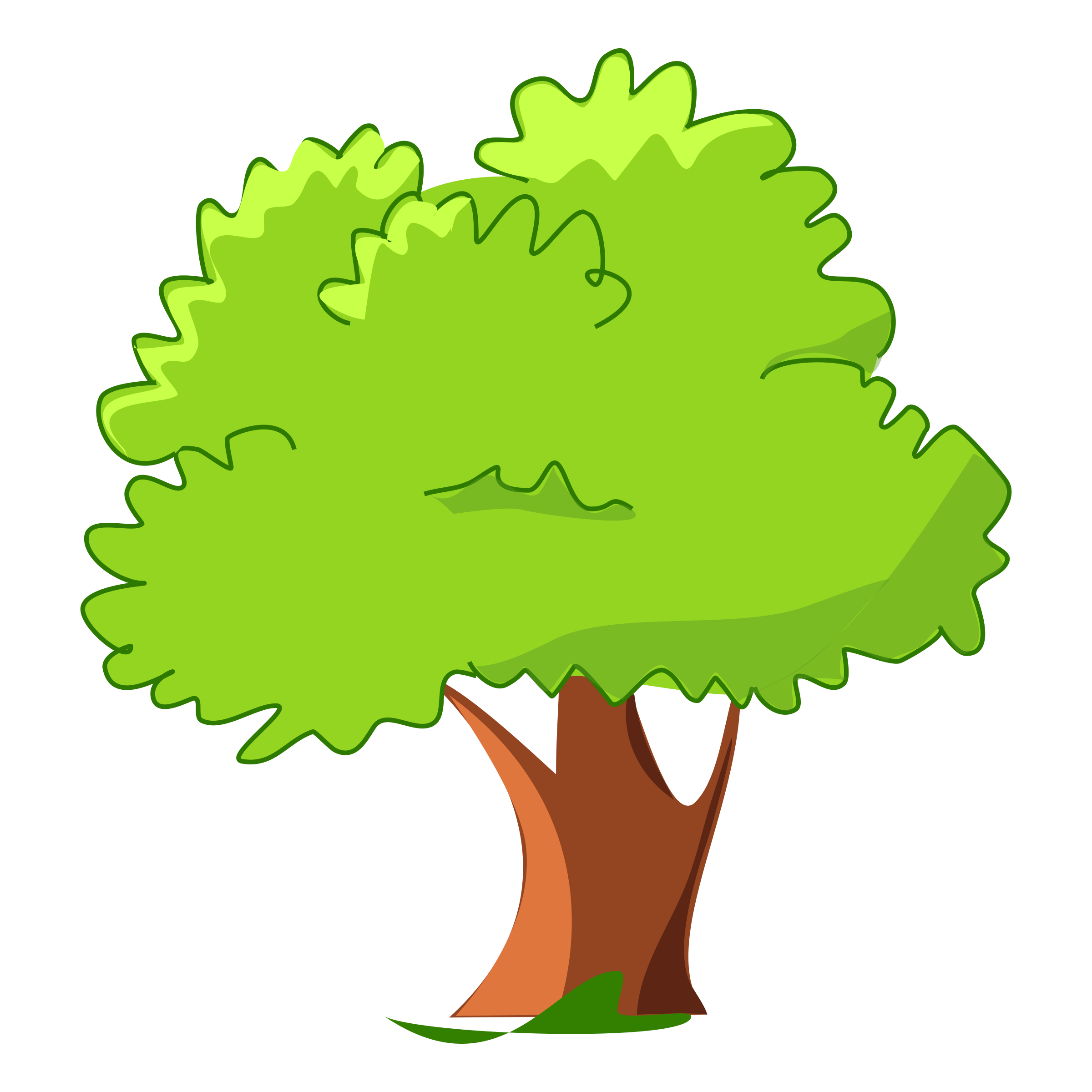 Mango tree clipart freeuse library Opportunities Cartoon Picture Of A Tree Branchy Icon Illustration ... freeuse library