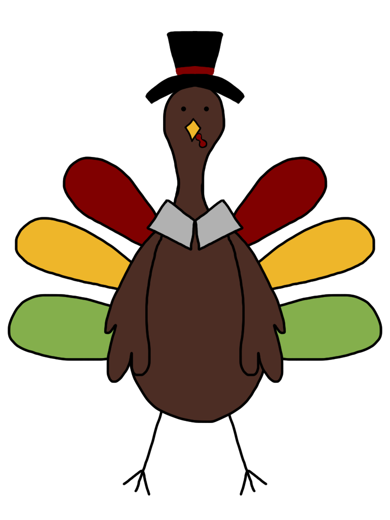 Dabbing turkey clipart