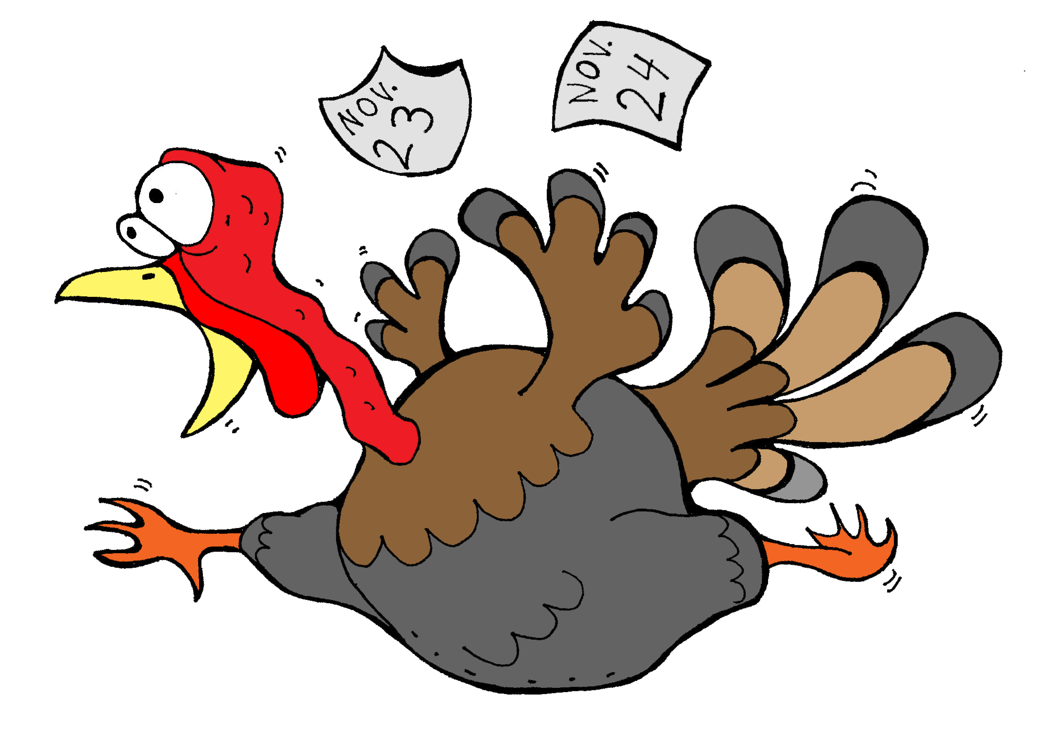 Turkey scared clipart png royalty free stock scared thanksgiving turkey clipart | Clip Art for Teachers ... png royalty free stock
