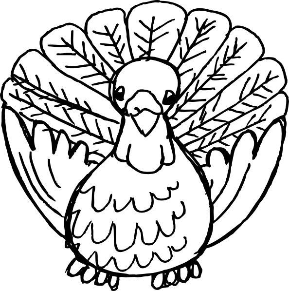 Turkey clipart vector vector free library Happy Thanksgiving Turkey Clipart Black And White | Clipart Panda ... vector free library