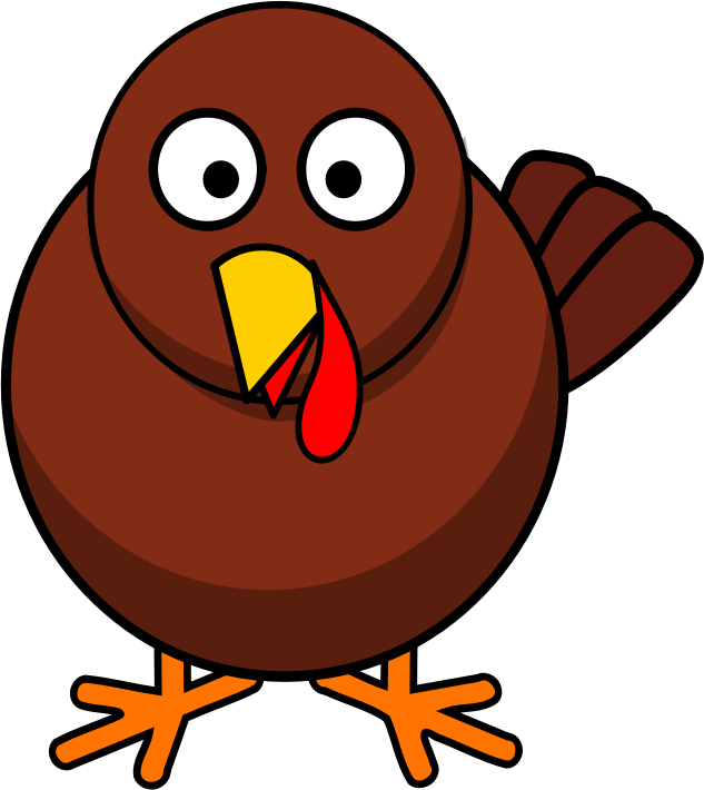 Smiling turkey clipart