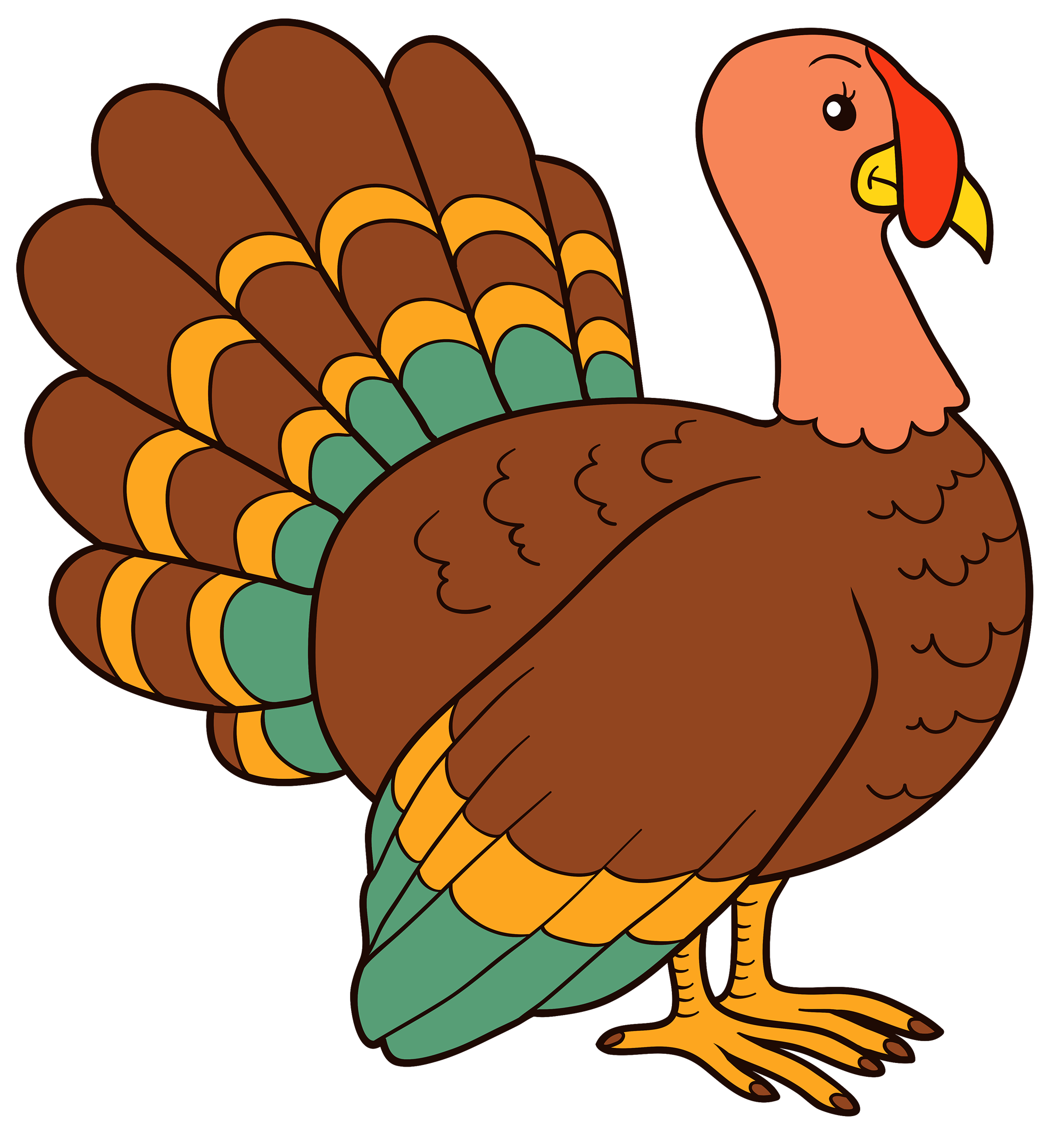 Dr odd . Cute turkey face clipart