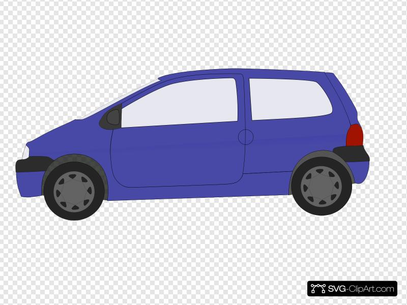 A v tiny car clipart vector free download Blue Small Car Clip art, Icon and SVG - SVG Clipart vector free download