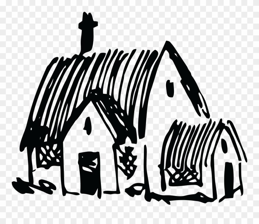 A village house clipart clip art Free Clipart - Village House Clip Art Black And White - Png Download ... clip art