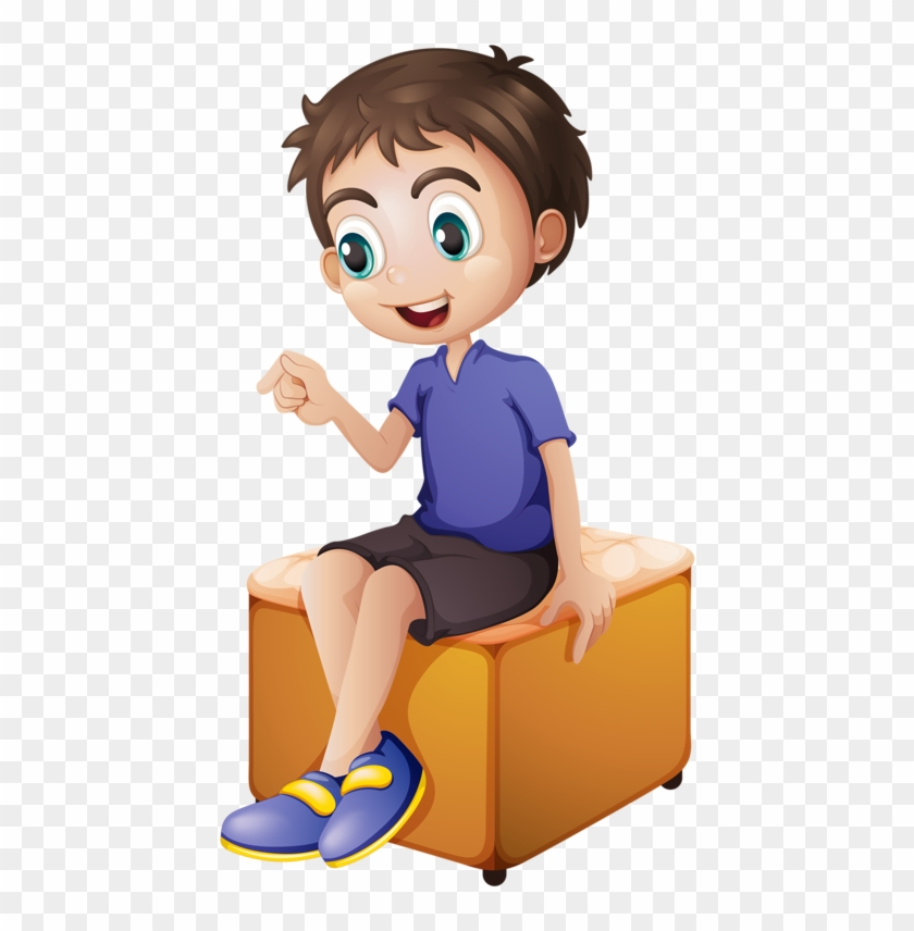 A wolf boy sitting on a chair clipart vector library download Digital Paintingsniños Animeclip Artclay - Cartoon Boy Sitting In ... vector library download