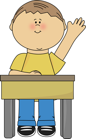 Boy sitting at desk thinking black and white cartoon clipart banner transparent library raise hand Clip Art | Raising Hand Clip Art Image - boy sitting at a ... banner transparent library