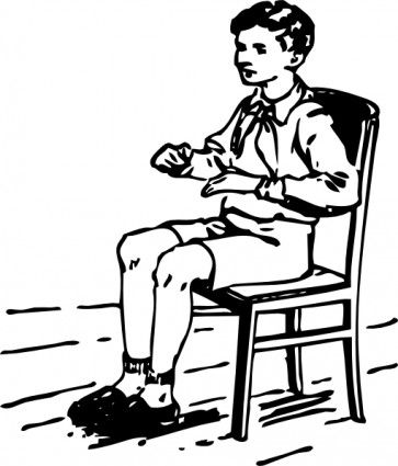 A wolf boy sitting on a chair clipart graphic freeuse stock to draw a child sitting in a chair | Boy Sitting In Chair clip art ... graphic freeuse stock