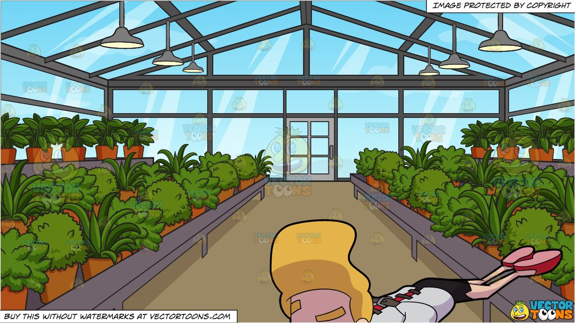 A woman knocking down a wall clipart jpg stock A Crazy Woman In A Straight Jacket Gets Knocked Down On The Floor and  Inside A Greenhouse Background jpg stock