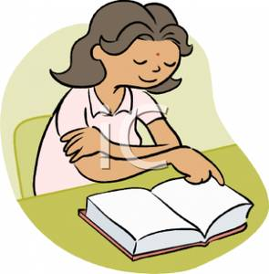 A woman reading a book clipart banner freeuse download Image of a Woman Reading a Book banner freeuse download