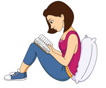 A woman reading a book clipart image transparent A woman reading a book clipart - ClipartFest image transparent
