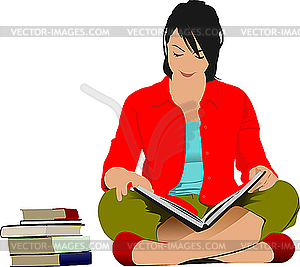 A woman reading a book clipart image free Woman Reading Book Clipart - Clipart Kid image free