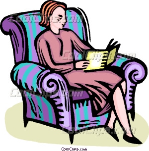 A woman reading a book clipart black and white library woman reading a book Vector Clip art black and white library