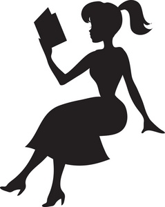 A woman reading a book clipart clip freeuse library Woman reading book clipart - ClipartFox clip freeuse library