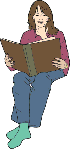A woman reading a book clipart clip Woman Reading Book Clipart - Clipart Kid clip