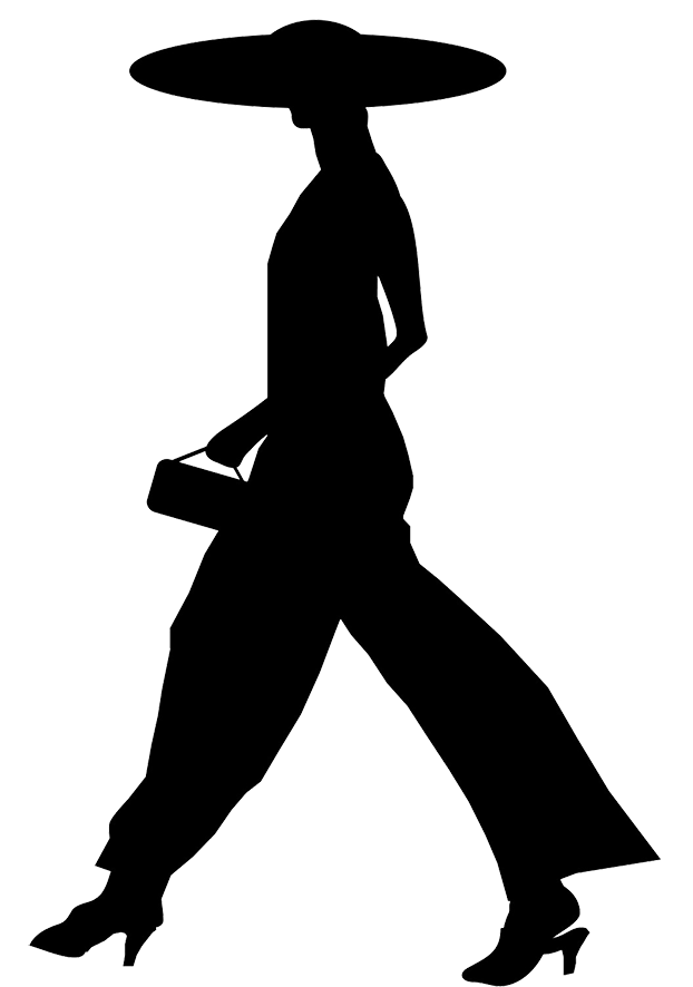 A women walking clipart clipart royalty free library Female Silhouette clipart royalty free library