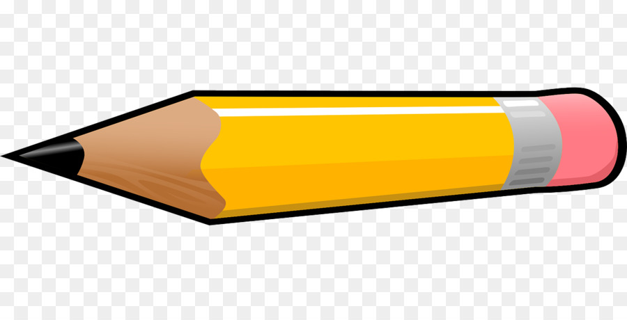 A yellow pencil clipart graphic Pencil Cartoon clipart - Pencil, Yellow, Product, transparent clip art graphic