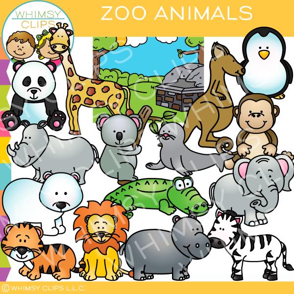 Animals zoo clipart