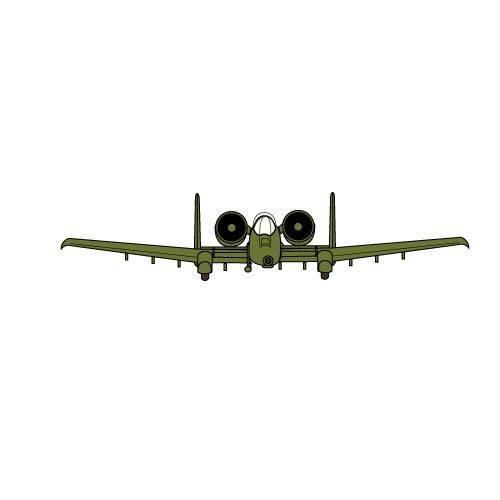 Military aircraft A-10 vector clip art | Public domain vectors clip art royalty free download
