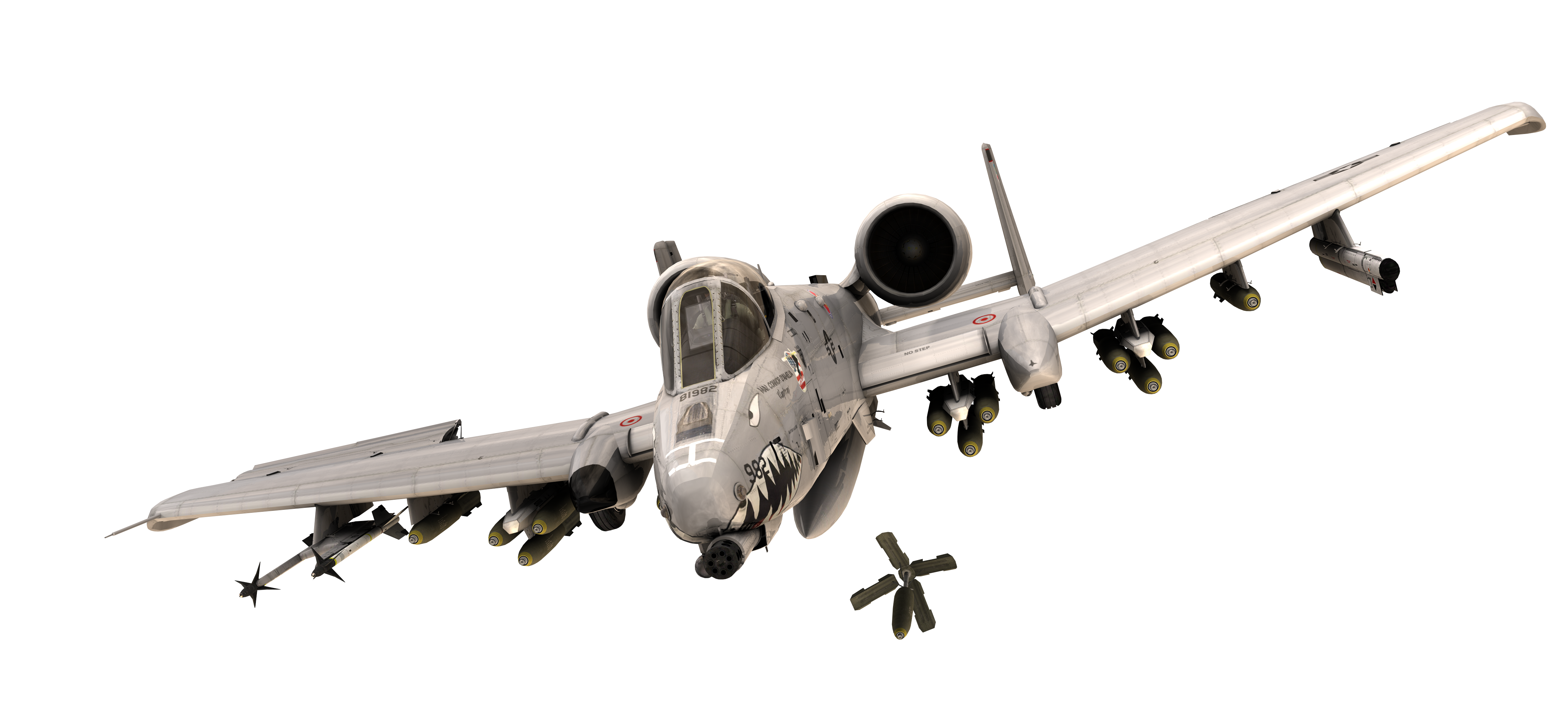 Fairchild Republic A-10 Thunderbolt II Airplane Aircraft General ... image black and white stock