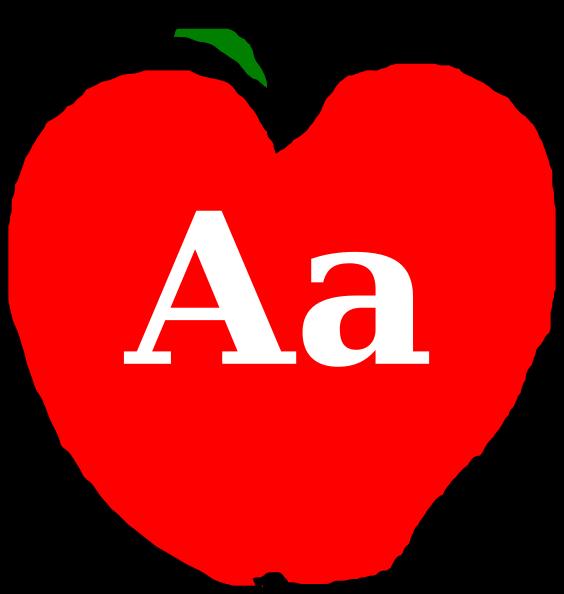Aa apple clipart png download Alphabet A Clip Art at Clker.com - vector clip art online, royalty ... png download