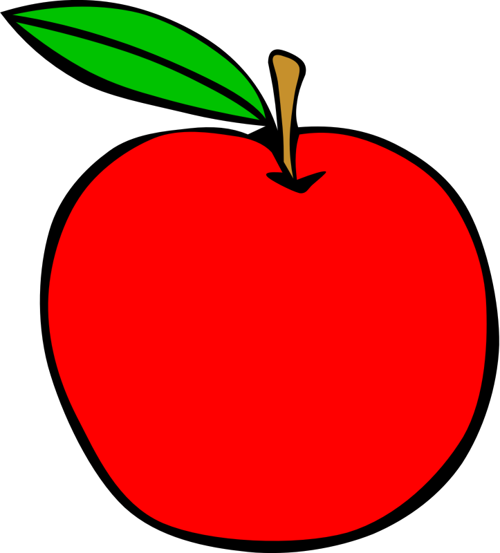 Teacher apple clipart download Clipart - Simple Fruit Apple download