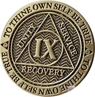 Aa chip clipart picture transparent Amazon.com: 8 Year Bronze AA (Alcoholics Anonymous) - Sobriety ... picture transparent