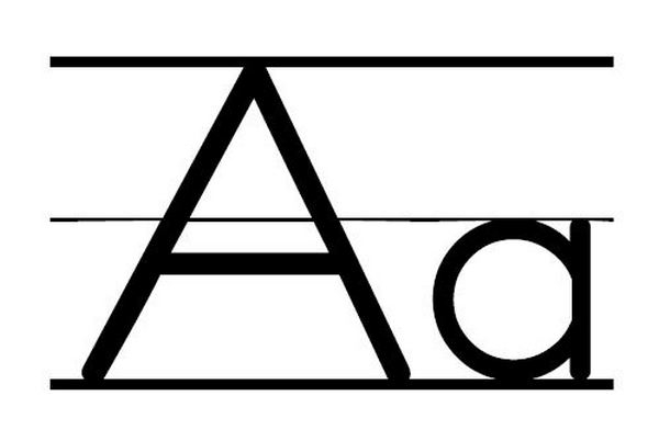 Aa clipart black and white