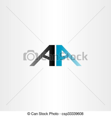 Aa logo clipart. A clipartfest double letter