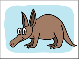 Clip Art: Basic Words: Aardvark Color Unlabeled I abcteach.com ... clip freeuse stock