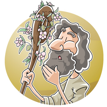 Aaron clipart vector free library Christian clipArts.net _ The Budding of Aaron\'s Staff vector free library