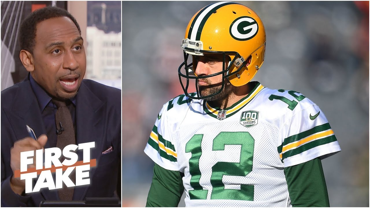Aaron Rodgers is better than Brett Favre ever was - Stephen A. l First Take clip art freeuse stock