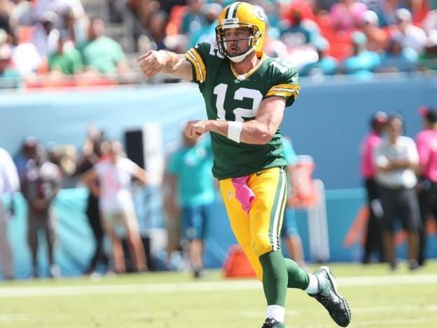 The green-and-gold genius: Aaron Rodgers\' 12 best throws of his ... picture royalty free library