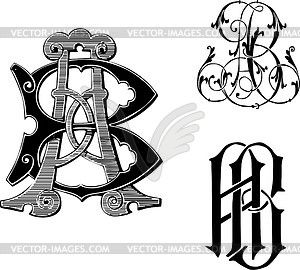 Ab clipart banner free library Monograms AB - vector clipart banner free library
