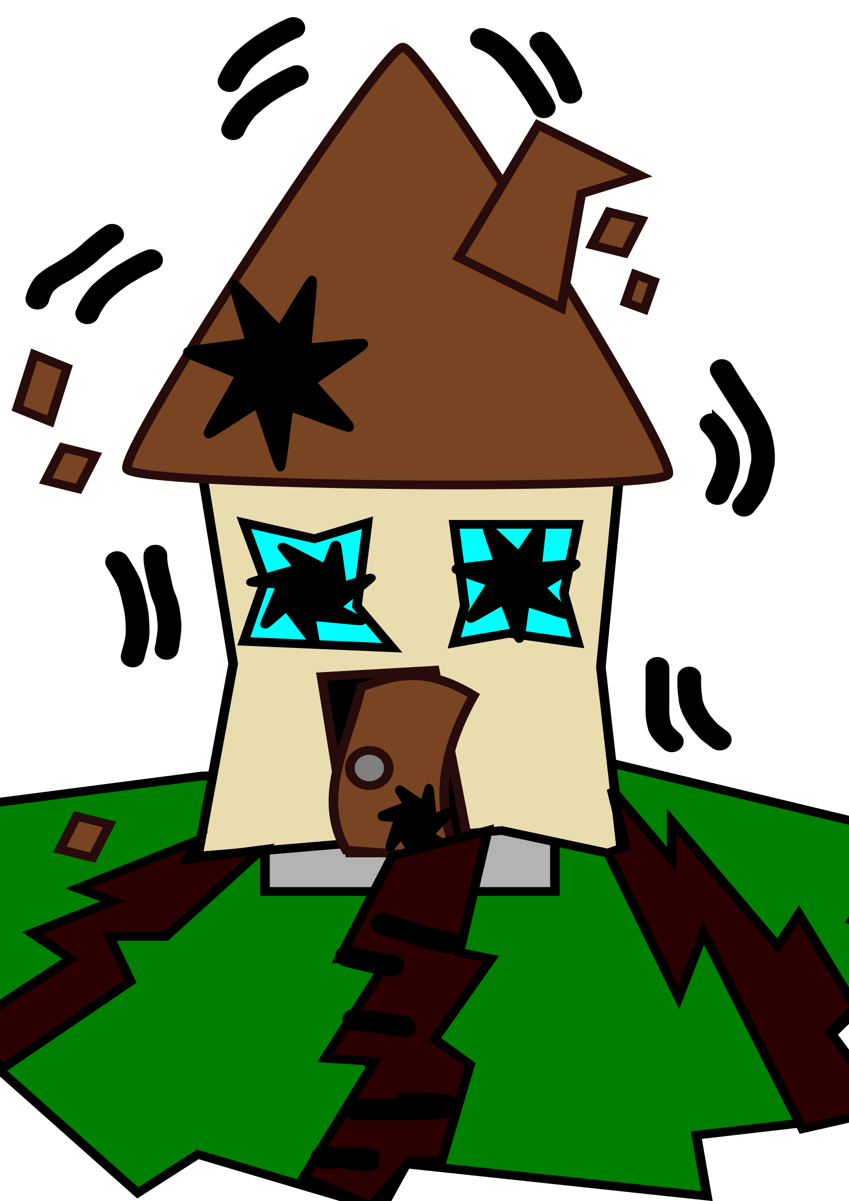 Abandoned house clipart clipart library Houses Clipart Group (64+) clipart library