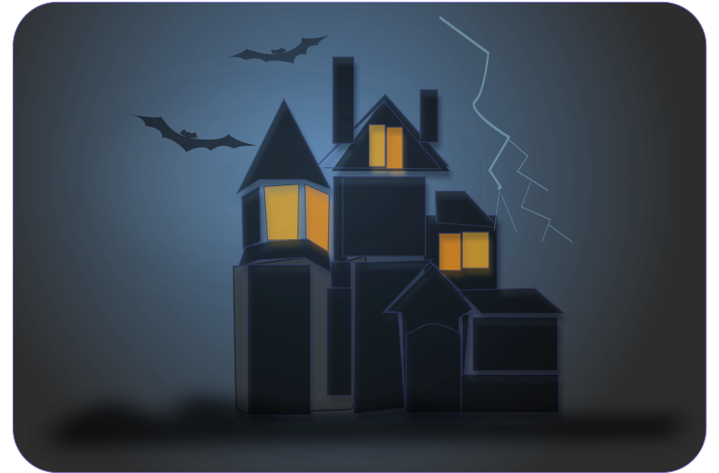 House at night clipart image black and white download Haunted House Clipart - Free Halloween Graphics image black and white download