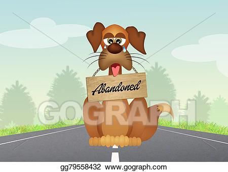 Abandoned road clipart jpg freeuse library Clipart - Abandoned dog. Stock Illustration gg79558432 - GoGraph jpg freeuse library