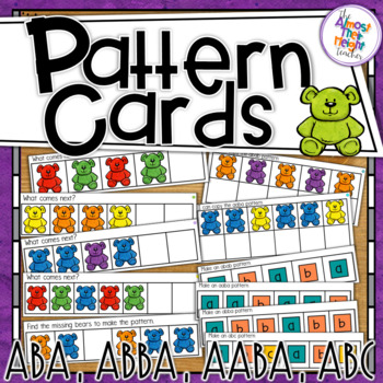 Abb Aab Abc Patterns Sheet Worksheets & Teaching Resources | TpT banner library stock