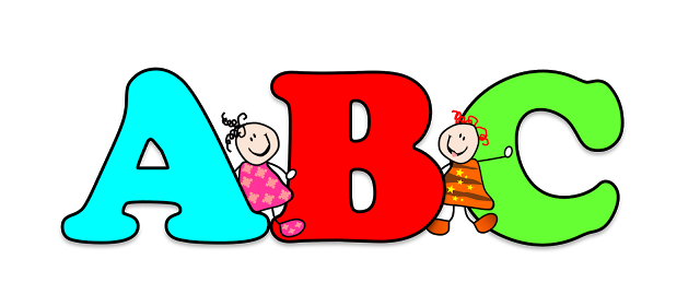 Abc 123 clipart free clip free library Abc letters clip art - ClipartFest clip free library