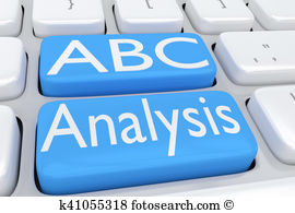 Abc analysis clipart. Illustrations and royalty concept