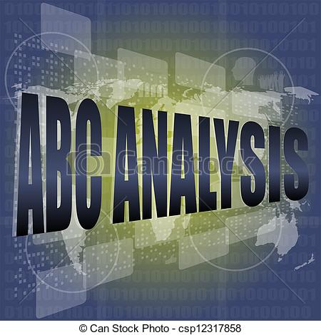 And stock illustrations words. Abc analysis clipart